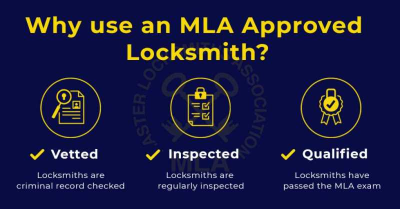 Why use an MLA approved locksmith in Bransgore infographic Vetted Inspected and Approved Mobile